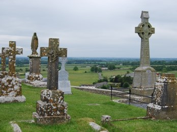 Rock of Cashel Cemetery in Ireland
